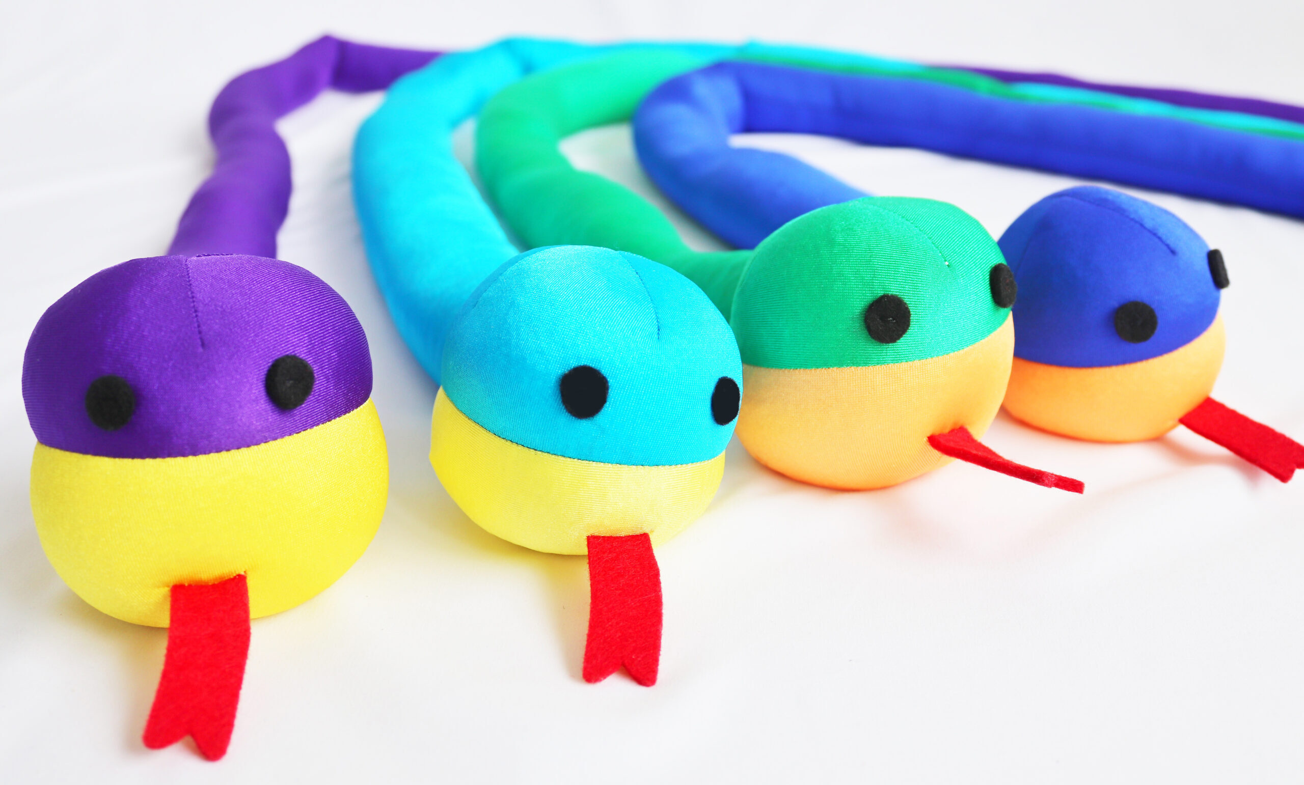 Colourful toy snakes